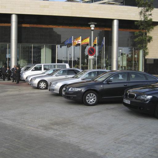 coches de LimusineCC en un congreso