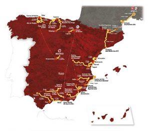 ruta vuelta ciclista España