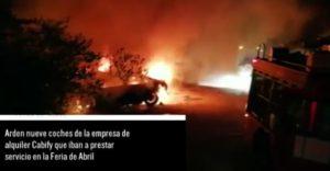 fuego coches Sevilla