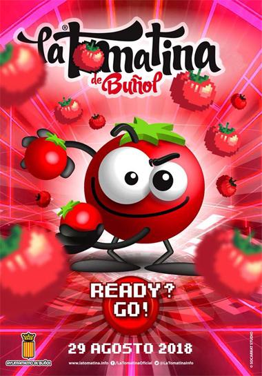 cartel Tomatina de Buñol 2018