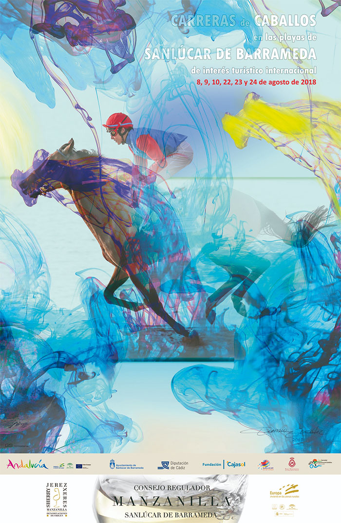 cartel carreras de caballos sanlucar de barrameda