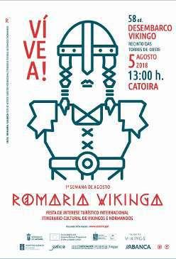 cartel Romeria Vikinga de Catoira 2018