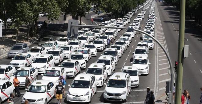 huelga taxis Madrid