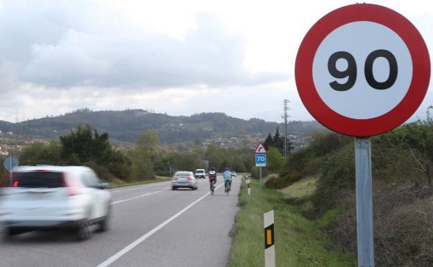 velocidad a 90 kmh