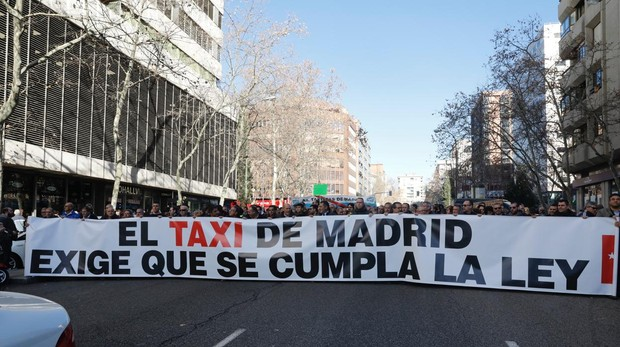 huelga taxis Madrid